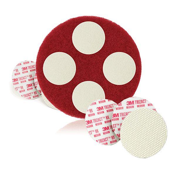 Disco para enceradeira Scotchgard Trizact Vermelho 3M Caixa com 4 unidades