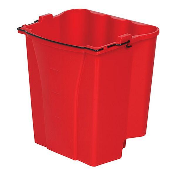 Balde Plástico Vermelho Wave Brake® Rubbermaid modelo 2 Águas com 17 Litros