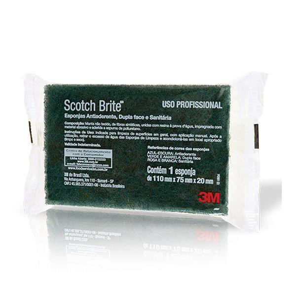 Esponja dupla face Scotch Brite 75x110mm Pacote com 10 unidades