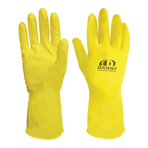 Luva de Látex Forrada Amarela Confort Danny-190