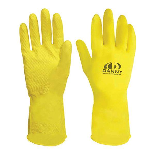 Luva de Látex Forrada Amarela Confort Danny-197
