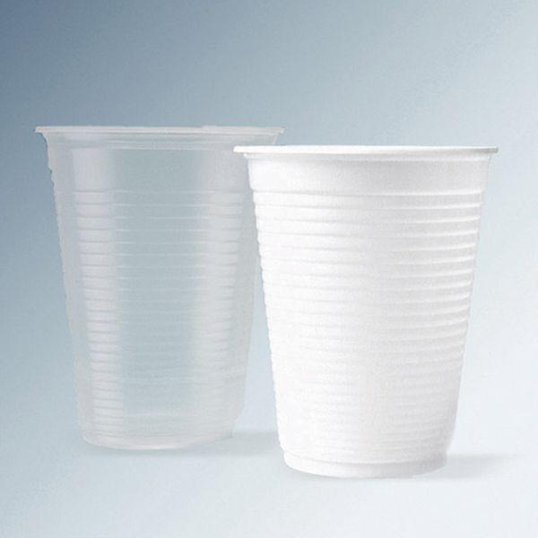 Copo Descartável para Água 180ml branco Ecocoppo com 2.500 unidades ABNT PP