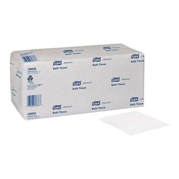 Papel Higiênico Interfolhado Folha Dupla Tork 10x20cm com 7.440 folhas