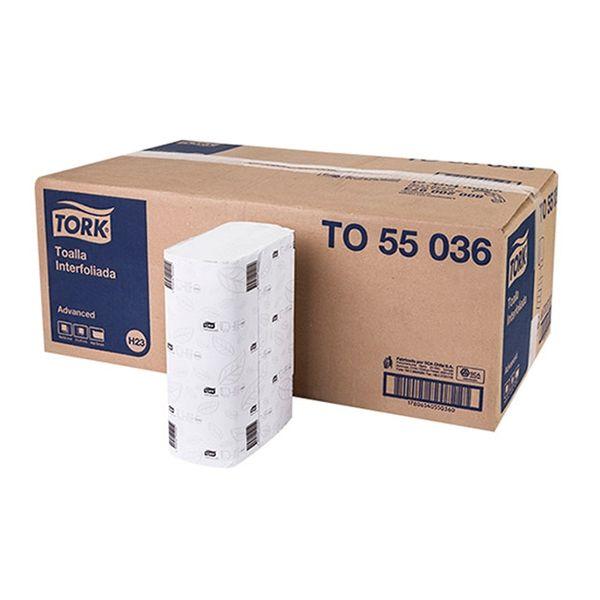 Papel Toalha Interfolha Folha Simples Tork 21x24cm branco com 4.000 unidades