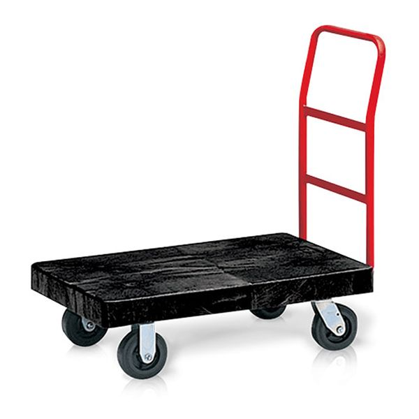 Carro de Transporte Plataforma Preto Rubbermaid
