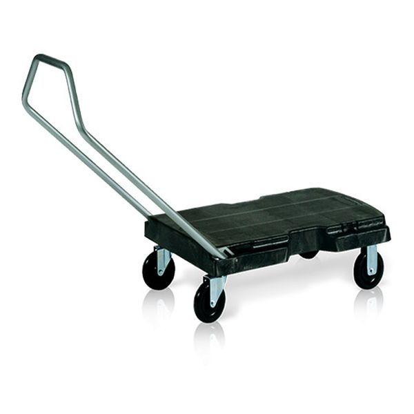 Carro de Transporte Plataforma Triple® Preto Rubbermaid
