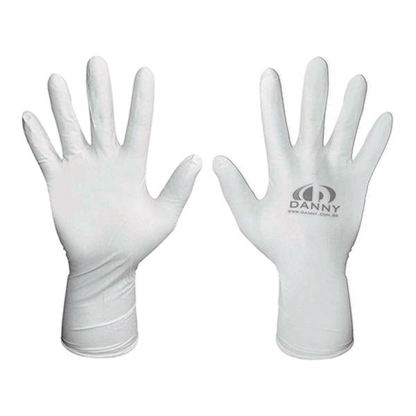 Luva Nitrílica Descartável Sensiflex Premium Branca Danny com 50 pares-499