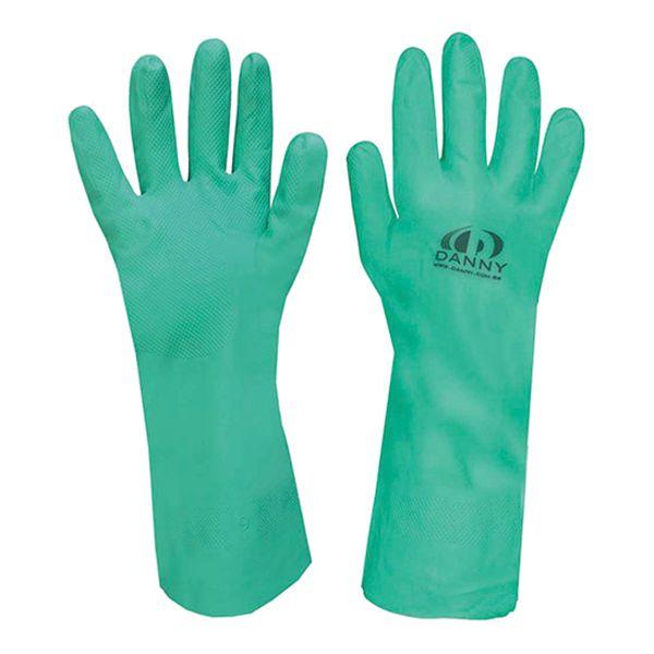 Luva Nitrílica para Proteção Química Nitriflex Verde sem Forro Danny-520