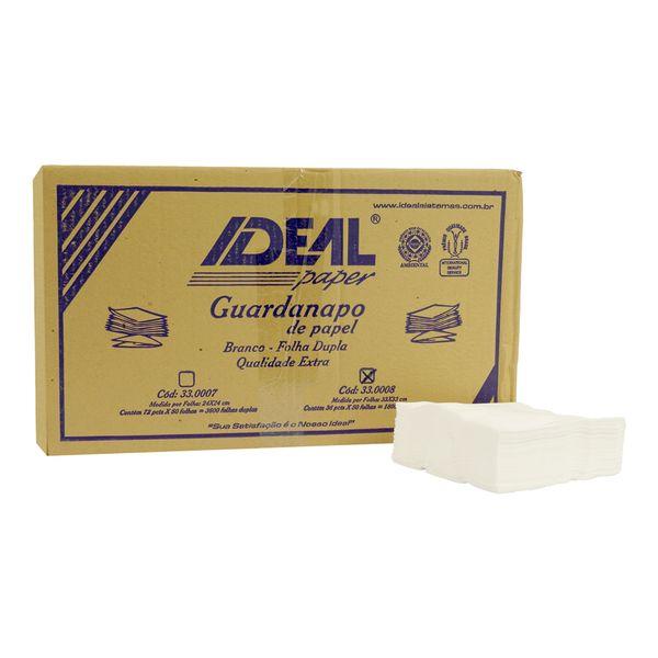 Guardanapo de papel Folha Dupla 33x33cm Ideal com 1800 unidades