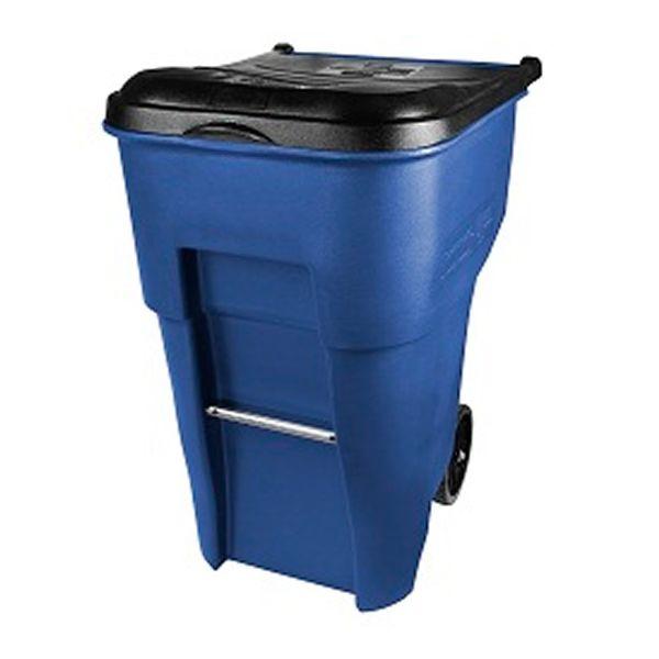 Lixeira com Rodas e tampa Azul 360 Litros Rubbermaid BRUTE®