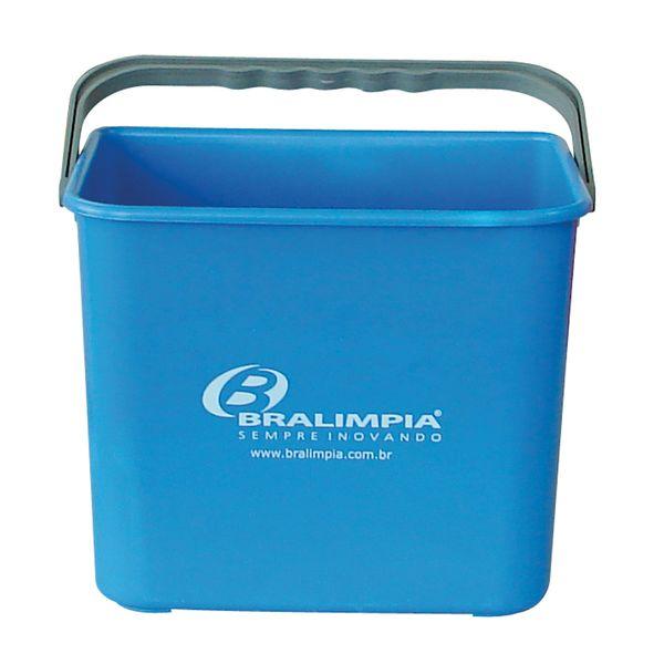Balde Plástico  com Alça 4 Litros Azul Bralimpia
