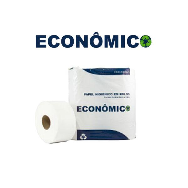 Papel Higiênico Rolão 8x300m Folha Simples Econômico com 8 rolos