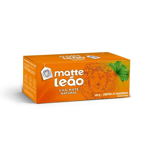Chá Matte Leão Sachê com 25 unidades