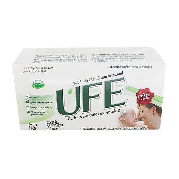 Sabão de coco UFE 200g com 5 unidades
