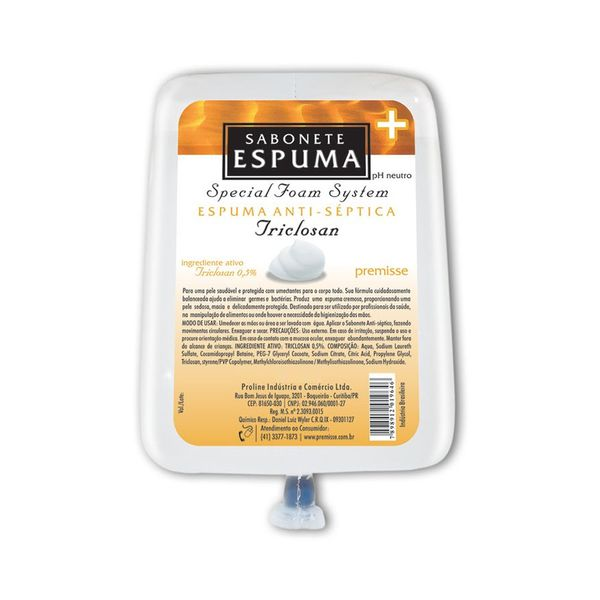 Sabonete Espuma 700ml Triclosan