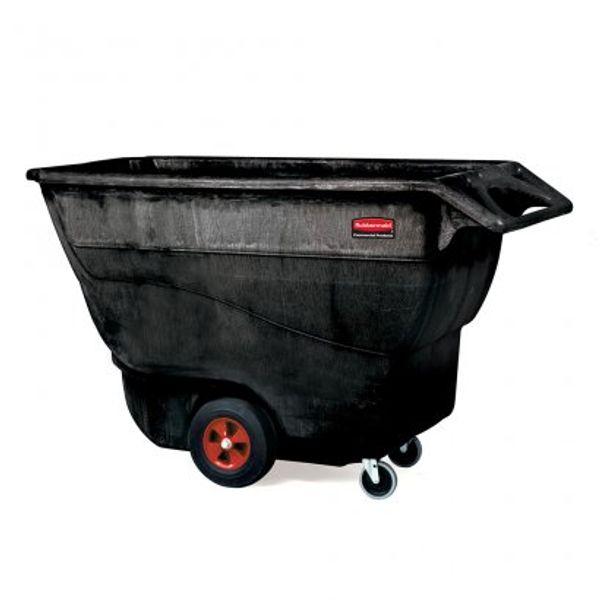 Carro Basculante Preto Rubbermaid 800 Litros para 567kg
