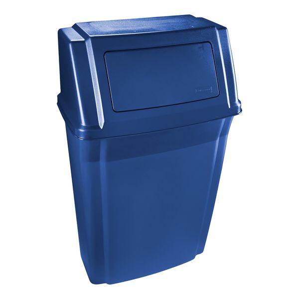 Lixeira de Parede com tampa Azul 58 Litros Rubermaid
