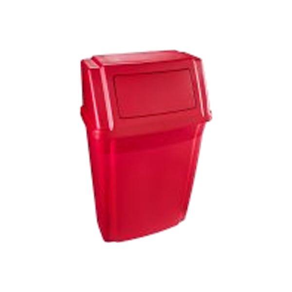 Lixeira de Parede com tampa Vermelho 58 Litros Rubermaid