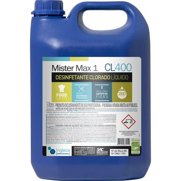 Desinfetante Clorado Mr Max1 5 Litros Ingleza