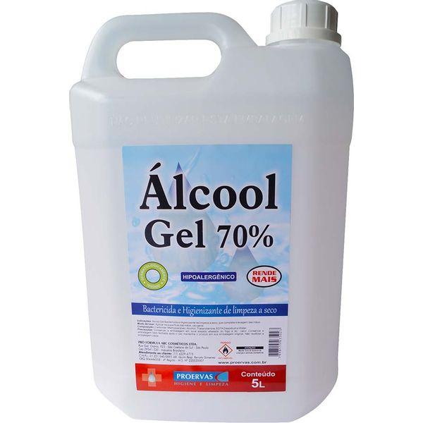 Álcool Gel Proervas 5 Litros