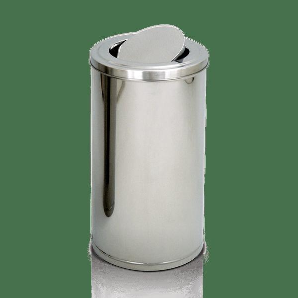 Coletor de Lixo Inox Tampa Flip Top 75 Litros Artplan