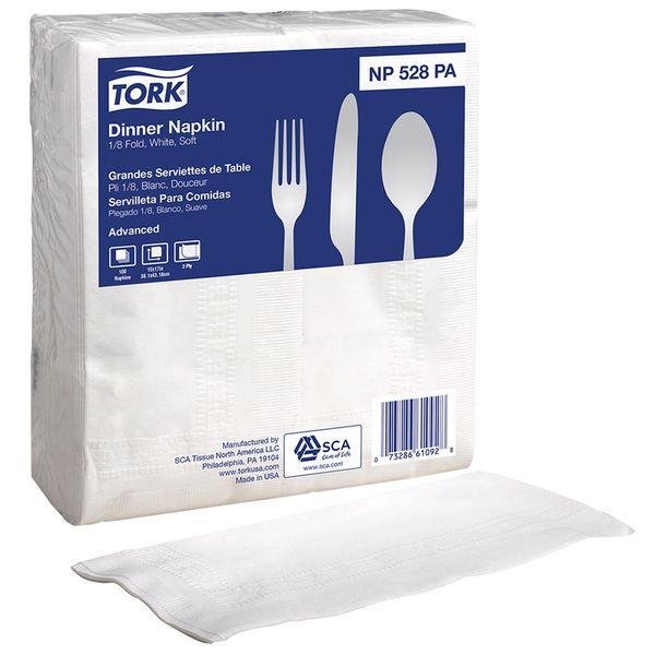 Guardanapo de papel Folha Dupla 42X25cm Dinner Tork com 2800 unidades