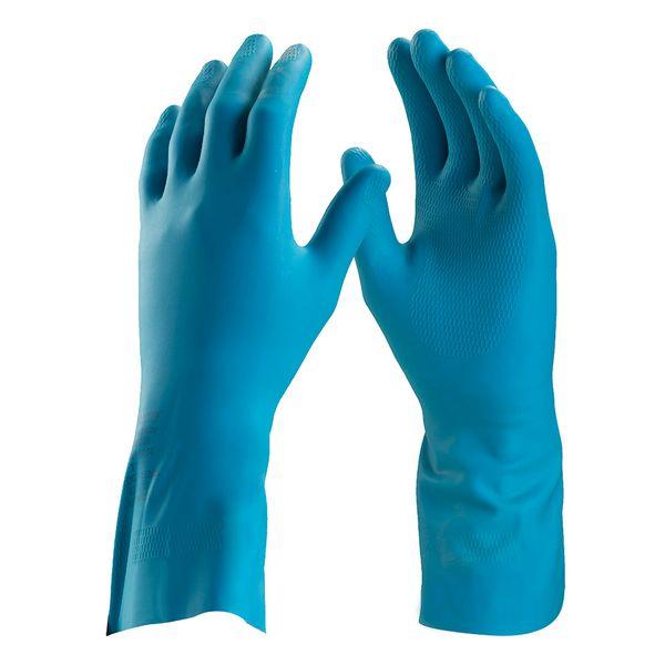 Luva de Látex Azul Silver Danny-5184