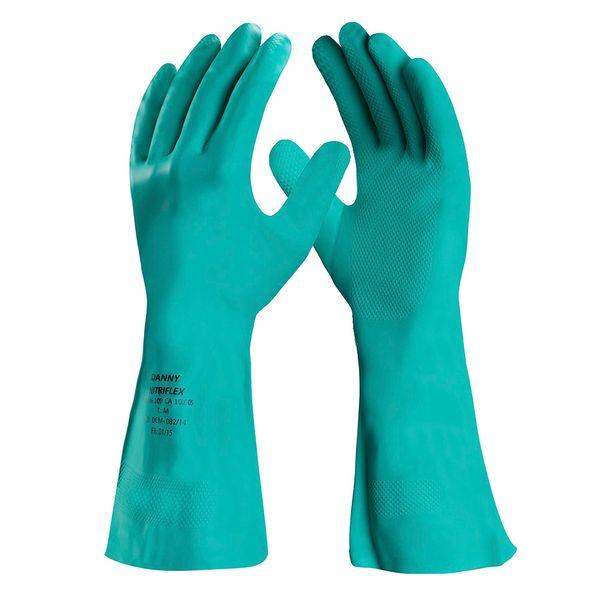 Luva Nitrílica Para Proteção Química Nitriflex Forrada