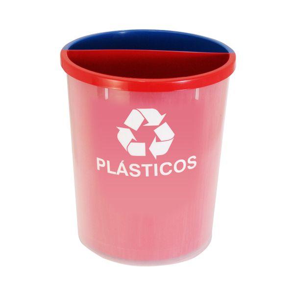 Lixeira Plástica para Coleta Seletiva com duas divisões internas do lixo JSN