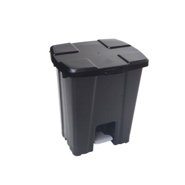 Lixeira com Pedal Cinza 30 Litros JSN