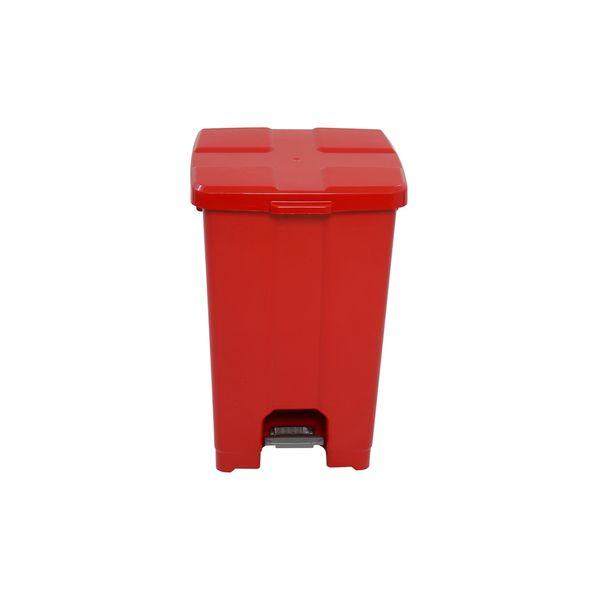 Lixeira com Pedal Vermelho 60 Litros JSN
