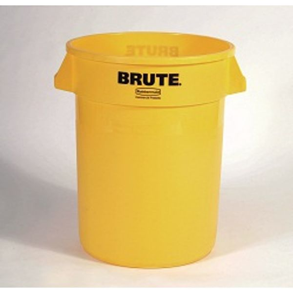 Lixeira Plástica 166 Litros Amarelo Rubbermaid BRUTE
