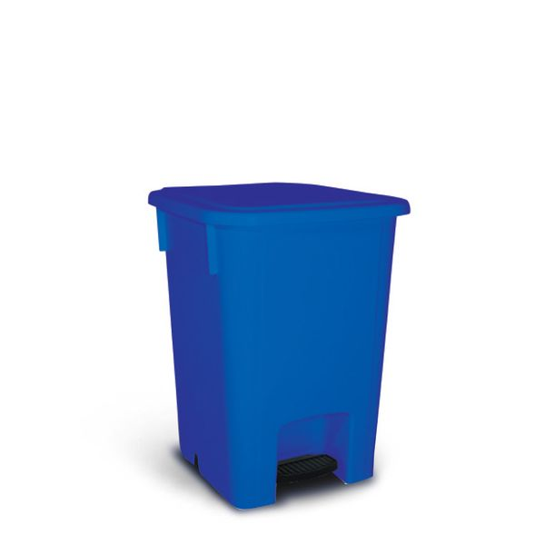 Coletor de Lixo com Pedal Azul 60 Litros Bralimpia