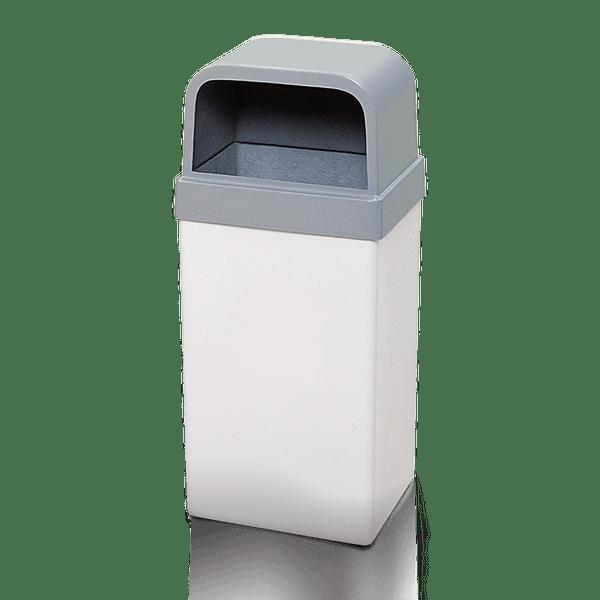 Coletor de Lixo em fibra Branco com Tampa 120 Litros Artplan