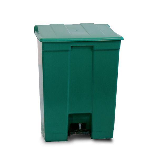Coletor de Lixo com Pedal Verde 30 Litros Bralimpia