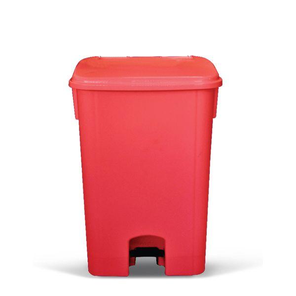 Coletor de Lixo com Pedal Vermelho 60 Litros Bralimpia