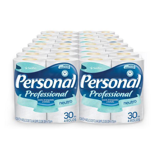 Papel Higiênico Personal Folha Simples 30m com 60 rolos