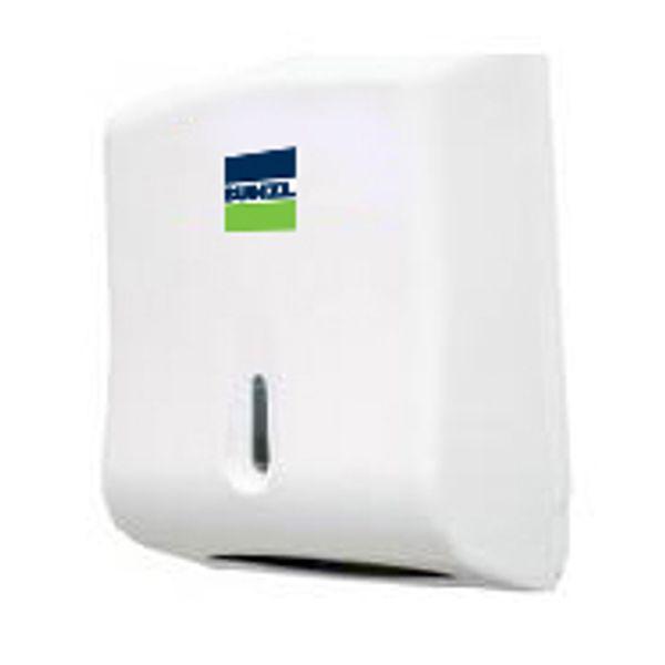 Dispenser para Papel Toalha Interfolha Branco 2/3 Dobras Bunzl