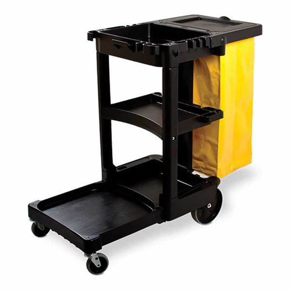 Carro de Limpeza Preto Rubbermaid