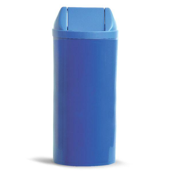Cesto de Lixo com tampa vai e vem Azul 23 Litros Bralimpia