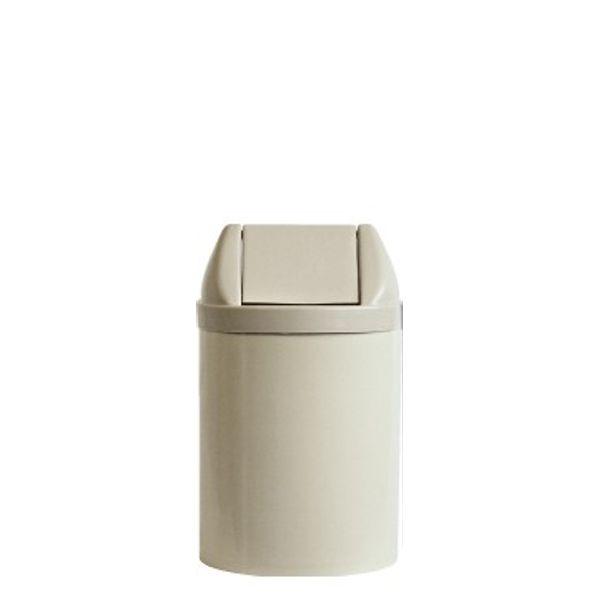 Cesto de Lixo com Tampa Basculante 14 Litros Bege Bralimpia