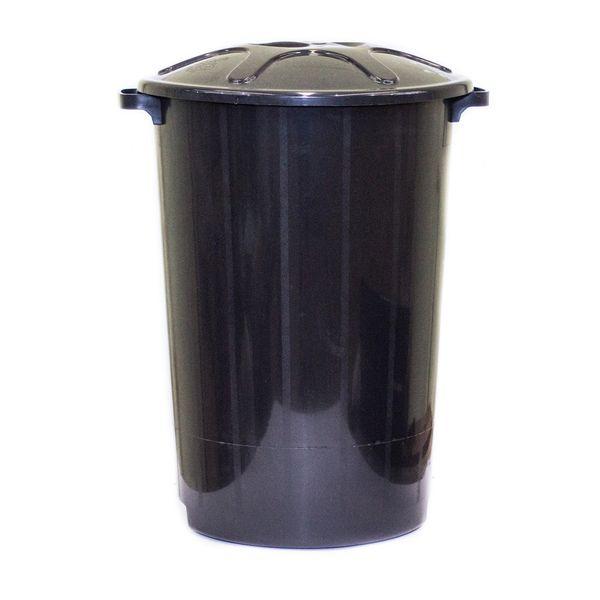 Cesto de Lixo com Tampa Preto 60 Litros