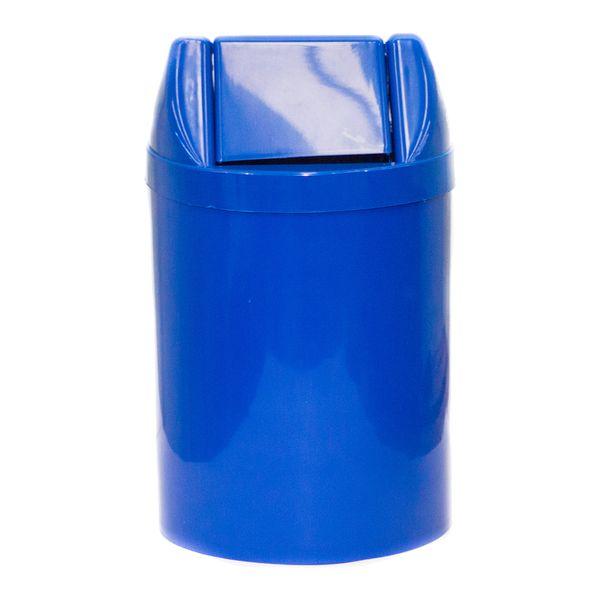 Cesto de Lixo 30x24 Azul com Tampa Basculante 14 Litros