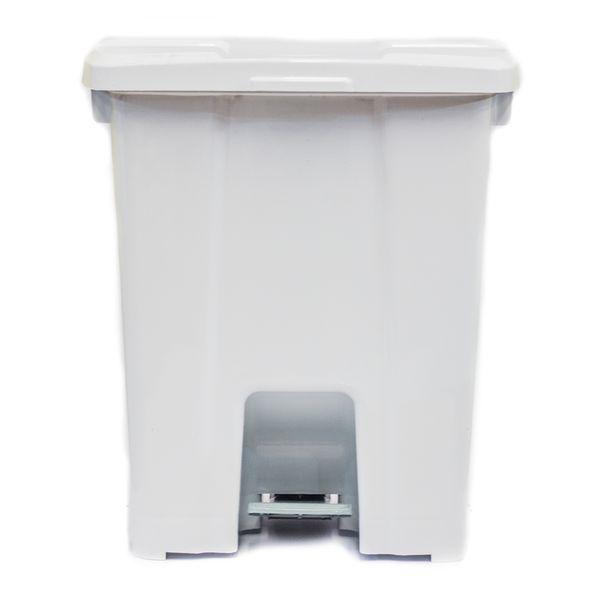 Coletor de Lixo com Pedal Branco 60 Litros Plástico