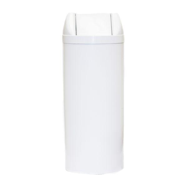 Cesto de Lixo Plástico Vai e Vem Branco 23 Litros