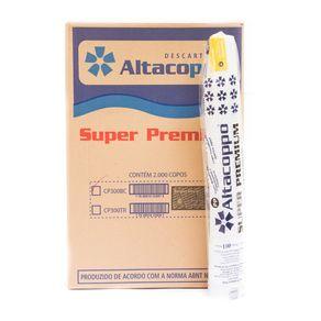 Copo Descartável para Chopp 300ml branco Altacoppo com 2.000 unidades ABNT PP