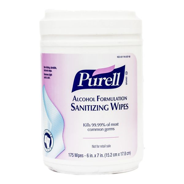 Purell Alcohol Sanitization Wipes com 175 unidades