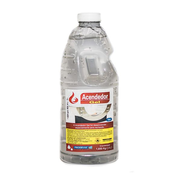 Álcool Gel 2 Litros Acendedor Proervas