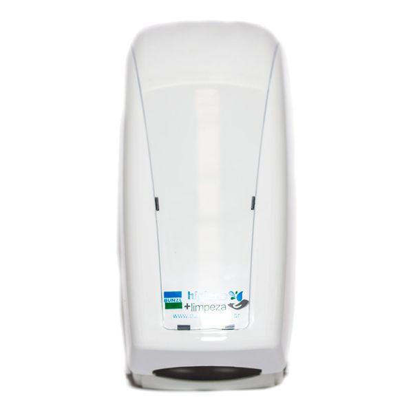 Dispenser Papel Higiênico Interfolha Kai Kai Branco com Sobre Tampa Transparente