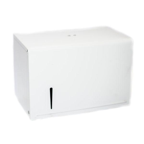 Dispenser para Papel Toalha Interfolha 2 Dobras Branco Pintado